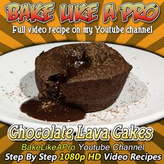 Molten Chocolate lava cakes recipe ! - with a twist ! - I'm using cupcake tins today ! Please SUBSCRIBE: ► http://bit.ly/1ucapVH  I've had many requests about using a different way to bake these, rather than using the ceramic ramekin molds as you have seen me use in a different video recipe.  These molten chocolate cakes are easy, fun, and simply delicious !   My Facebook Page: http://www.facebook.com/BakeLikeAPro