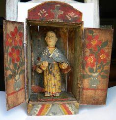Antique Mexican Nicho Santo