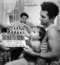 De Niro gets some help with a slate clap on Raging Bull