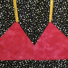 Free - paper pieced bra/bikini top by Jennifer Ofenstein (sewhooked.com), via Flickr