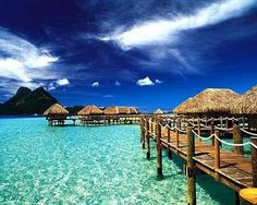 Travel to Bora Bora and stay in a Bungalo over the water.