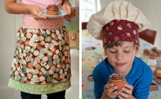 """QUILT Oct/Nov 2013 doesn't hit newsstands until August 6th, so while you wait why not take a look at the charming """"Sweet Treats Apron & Child's Chef Hat"""" project from Red Rooster Fabrics for last year's issue?"""