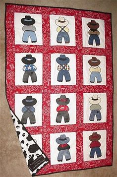 Cowboy Quilt Patterns | Cowboy Up - Quilters Club of America