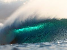 . lights, water, sprays, surfs up, the wave, colors, the ocean, ocean waves, blue crush
