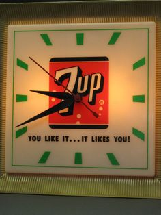 1960s 7UP Advertising Clock