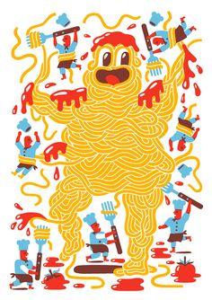 Spaghetti - Till Hafenbrak Illustration