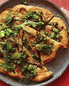 Sweet Paul's Fava Bean, Asparagus, & Asiago Pizza Recipe
