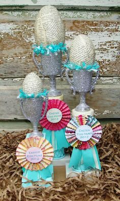 Easter Egg Hunt trophies...so fun and easy to make!