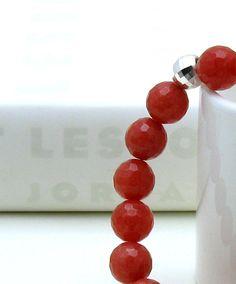Beautiful! Watermelon Modern Beaded Bracelet / Watermelon by cooljewelryJR