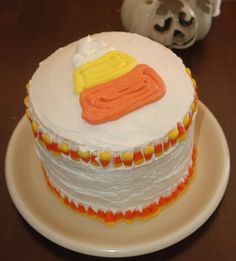 Candy Corn Cake for Nick