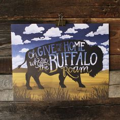 Where the Buffalo Roam Art Print by 1canoe2 on Etsy, $52.00