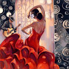 :: Trish Biddle Fine Art :: Flamenco Dancer :: Glamorous Women in Fabulous Places ::