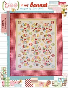 Cherry Cheesecake    Listing is for pattern only. Makes a 64 x 77 quilt.    More information at www.beeinmybonnetco.blogspot.com