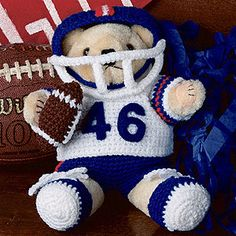 Touchdown Teddy Clothing Crochet Pattern ePattern - Leisure Arts