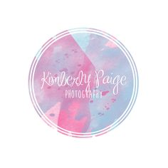 Premade Watercolor Logo  Custom Logo  by KimberlyPaigeDesigns, $20.00