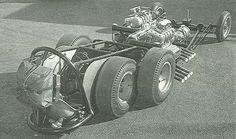 Art Chrisman twin-Chrysler twin-axle dragster.