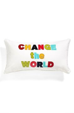 Levtex 'Change the World' Accent Pillow | Nordstrom