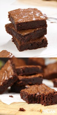 3-Ingredient Brownies are moist, chewy, chocolaty and oh so fudgy. They come together in just 5 minutes. And the taste is spectacular. They are sweet enough to be a treat and not overly decadent. Definitely my new go to everyday brownie recipe. #brownies #recipe