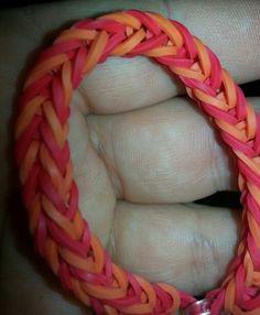 Fishtail rainbow loom bracelet