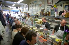 San Francisco's century-old Swan Oyster Depot has some of the most charming servers—and freshest seafood—in the country. 1517 Polk Street, San Francisco.