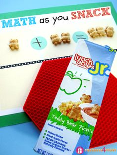 """Free Printable """"Math as you Snack"""" with Lunchables #LunchablesJR #shop http://freebies4mom.com/mathasyousnack/"""