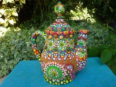 Ceramic Teapot Transformed by Clay Mosaic Belle's by CrazieHappy, $145.00