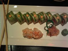 One of my all time favorite rolls...the California Angler from Peter's Sushi Spot... spicy tuna, avocado, tobiko, and just a hint of onion in the rice... addictive