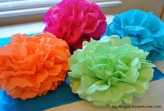 How to Make Tissue Paper Poufs
