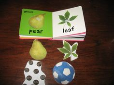 DIY Matching Game Book.  Make copies of pages, cut out and laminate pieces and use sticky back Velcro to create a matching game in the book.