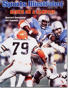 December 4, 1978 - Earl Campbell of the Houston Oilers.