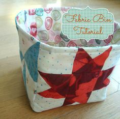 Fabric Bin {52 Quilt Block Pick Up}