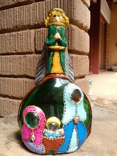 decor bottl, clay bottl, bottl idea, botella decoradasbottl, bottl makeov