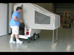 Mini Mate Motorcycle Camper - YouTube