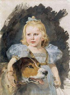 Arturo Michelena, Niña con perro, siglo XIX
