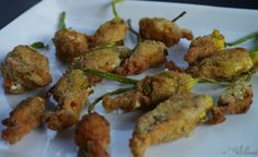 A Girl & Her Food: Squash Blossoms Stuffed with Goat Cheese
