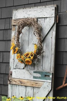 New House: What To Do With Faded Sunflowers
