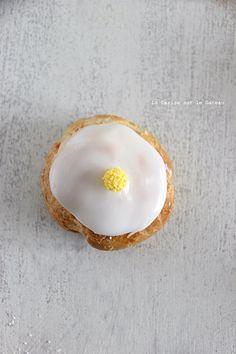 choux055 Petits choux (choux craquelins au lemon curd & petits choux glacés à la vanille)