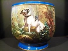 Rare-Antique-Sevres-Porcelain-Jardiniere-Wonderfully-Hand-Painted-Hunting-Scene fine porcelain, royal vienna, jardinierescach pot