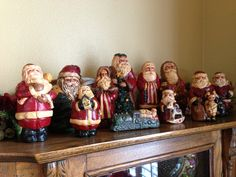 My Lefever Chalkware Santa collection!  Love these !
