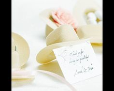 Buy Now! - Minature Cowboy Hat Place Card Holders (Set of 12) $12