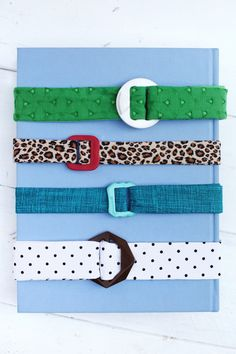 Make Your Own Fabric Belts - A BEAUTIFUL MESS