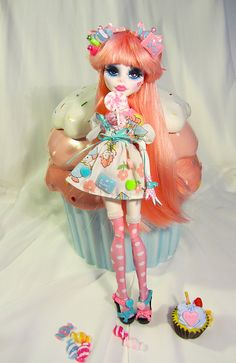 Candy Cutie Custom Cupid I created for one of my Etsy Customers. by Wicked Paper Dolls, via Flickr