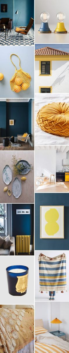 color story: deep blue & goldenrod. | sfgirlbybay