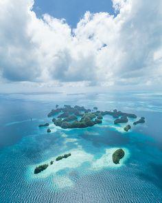 Aerial view of paradise, Palau Islands, Micronesia