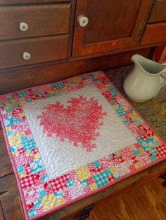 A Farm Wife's Journal. Twisty Heart Quilt