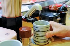 tea product, tea tap, person tea