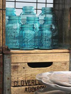 Old blue mason jars....