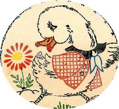 Vogart 112 Charming Animals for Baby Bibs. A 1950s hand embroidery pattern.