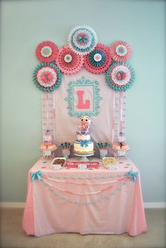 """Lalaloopsy Party / Birthday """"Lolaloopsy Suzetta La Sweet Tea Party""""- Dessert Table"""
