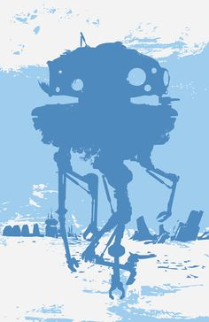 Star Wars - Probe Droid on Hoth Poster